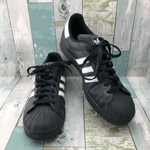Adidas Black Leather Sneakers Men's Size 12